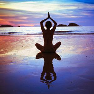 Yoga am Strand
